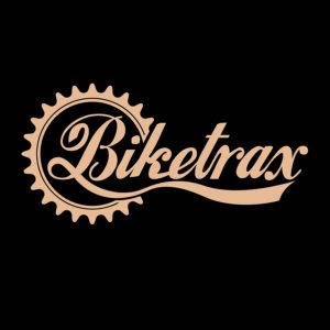 Biketrax logo on black background